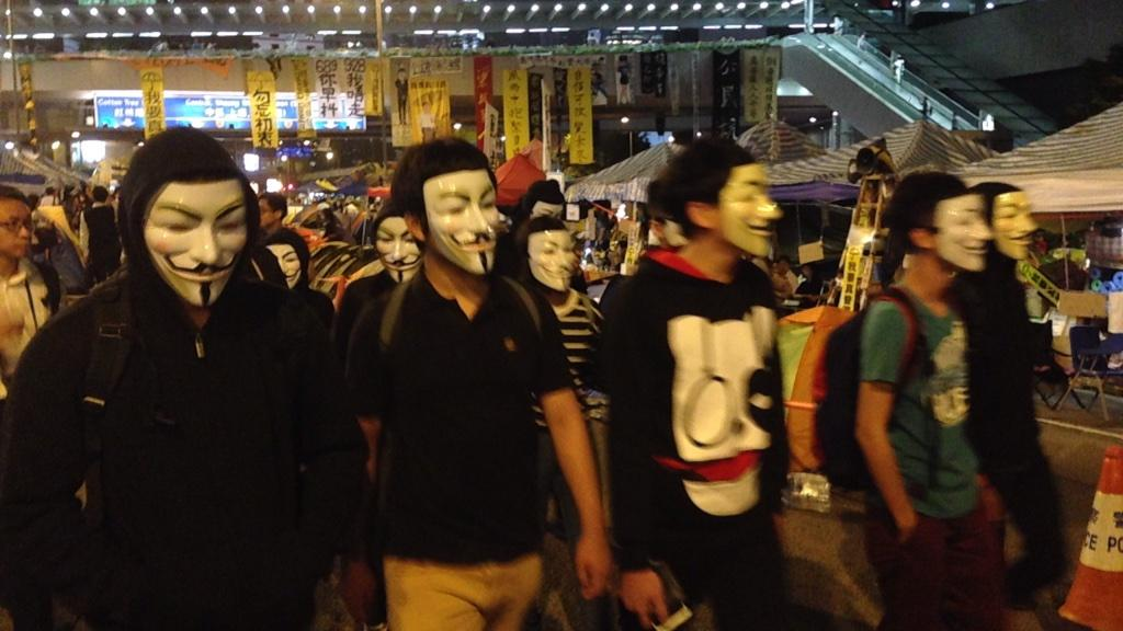 Guy Fawkes wandering...#OccupyHK http://t.co/faC35OSNbx