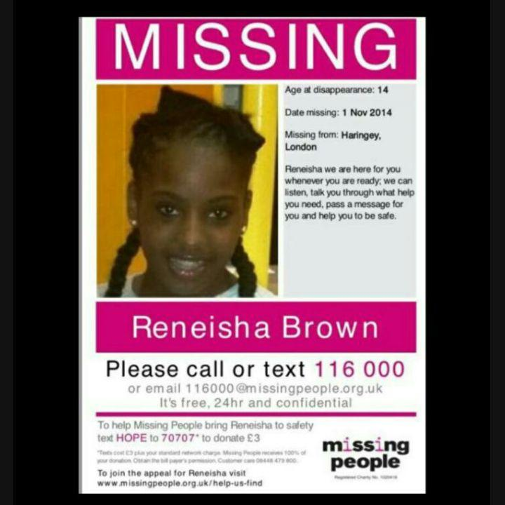 Please look out for Reneisha, 14yrs old last seen in North London! #ReneishaBrownMissingChild #ReneishaBrown http://t.co/upewHgIFRX