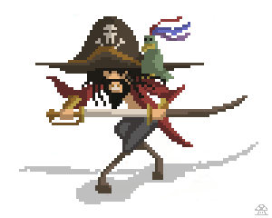 pirate pixelart