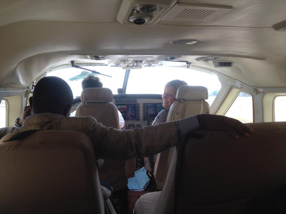 Jill got to be 'co-pilot' for the flight to the next part of our filming trip for #cabi_news in Tanzania http://t.co/DYJotzuswX