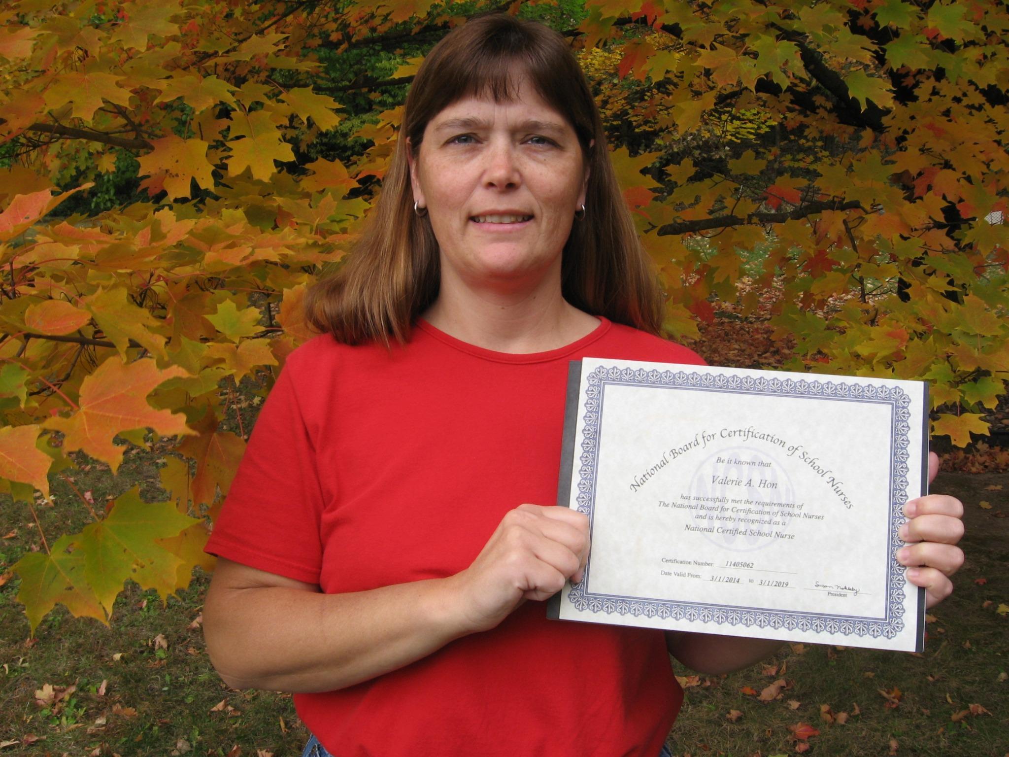 Portage Schools On Twitter Congrats To District Nurse Valerie Hon