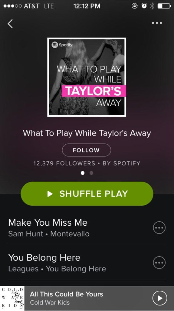 .@taylorswift13 should write a song about her breakup with @Spotify now. #justsayyes #SwiftReturn http://t.co/nD2LMWkmMm