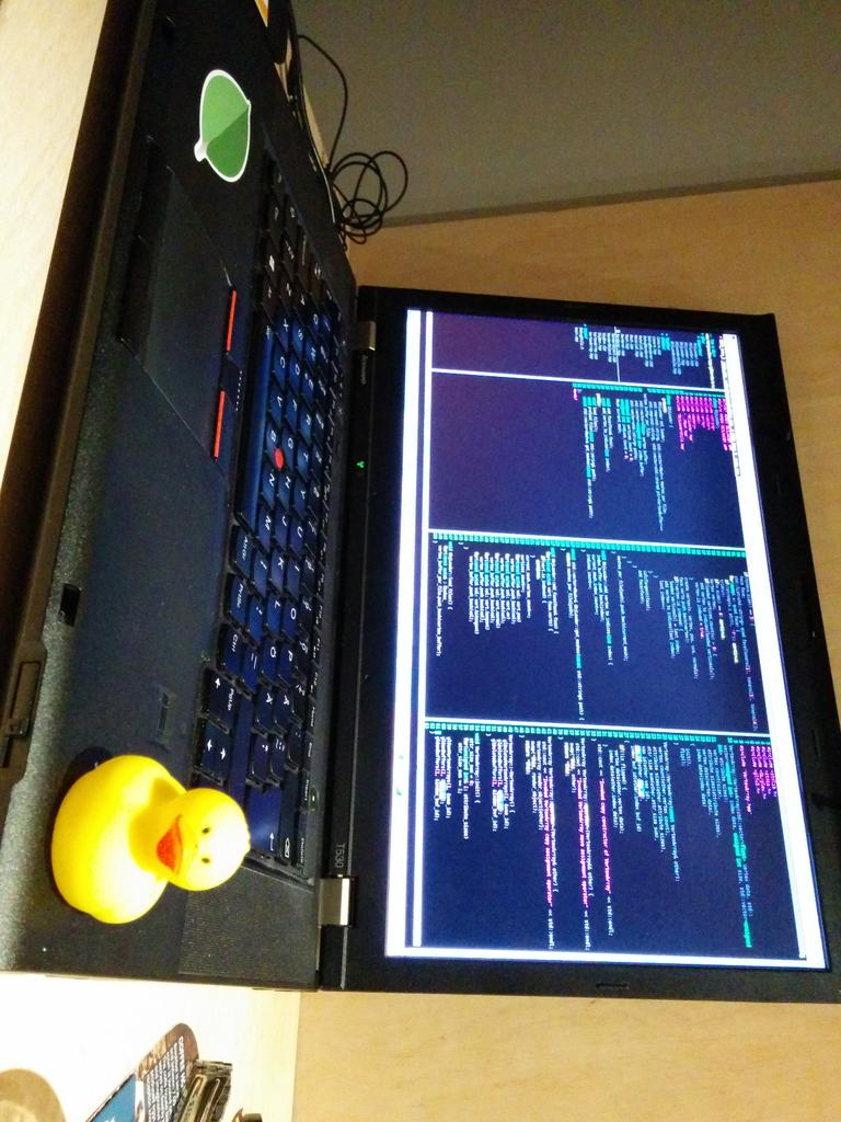 Trying out rubber duck debugging, neighbours must think I'm mad. Thx for a great talk (and the duck), @DanielleSucher http://t.co/7JzAqi3zH3