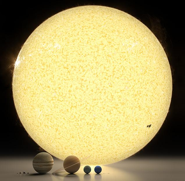 Spectacular rendering of the solar system to scale: http://t.co/lHTGKJMCow via @sploid http://t.co/Ioh7rYIgfp