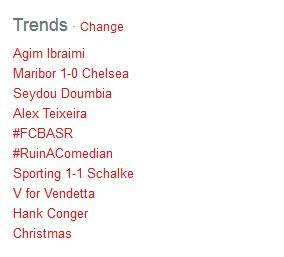 Top 10 trending topics in the world when Agim was #1