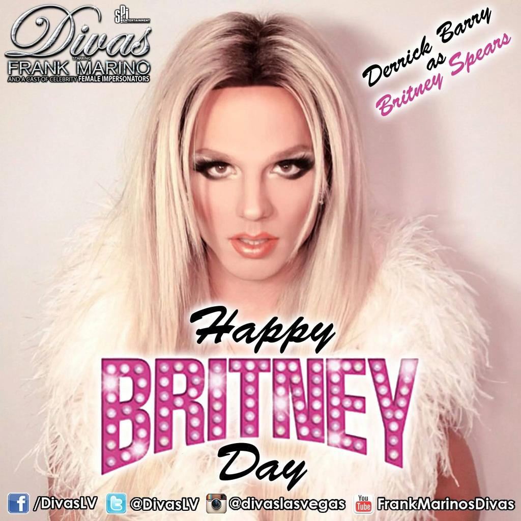 #HappyBritneyDay #LasVegas ! We are celebrating with @derrickbarry as @britneyspears today at @TheLINQ #BritneyDay http://t.co/PTSkJMSZQu