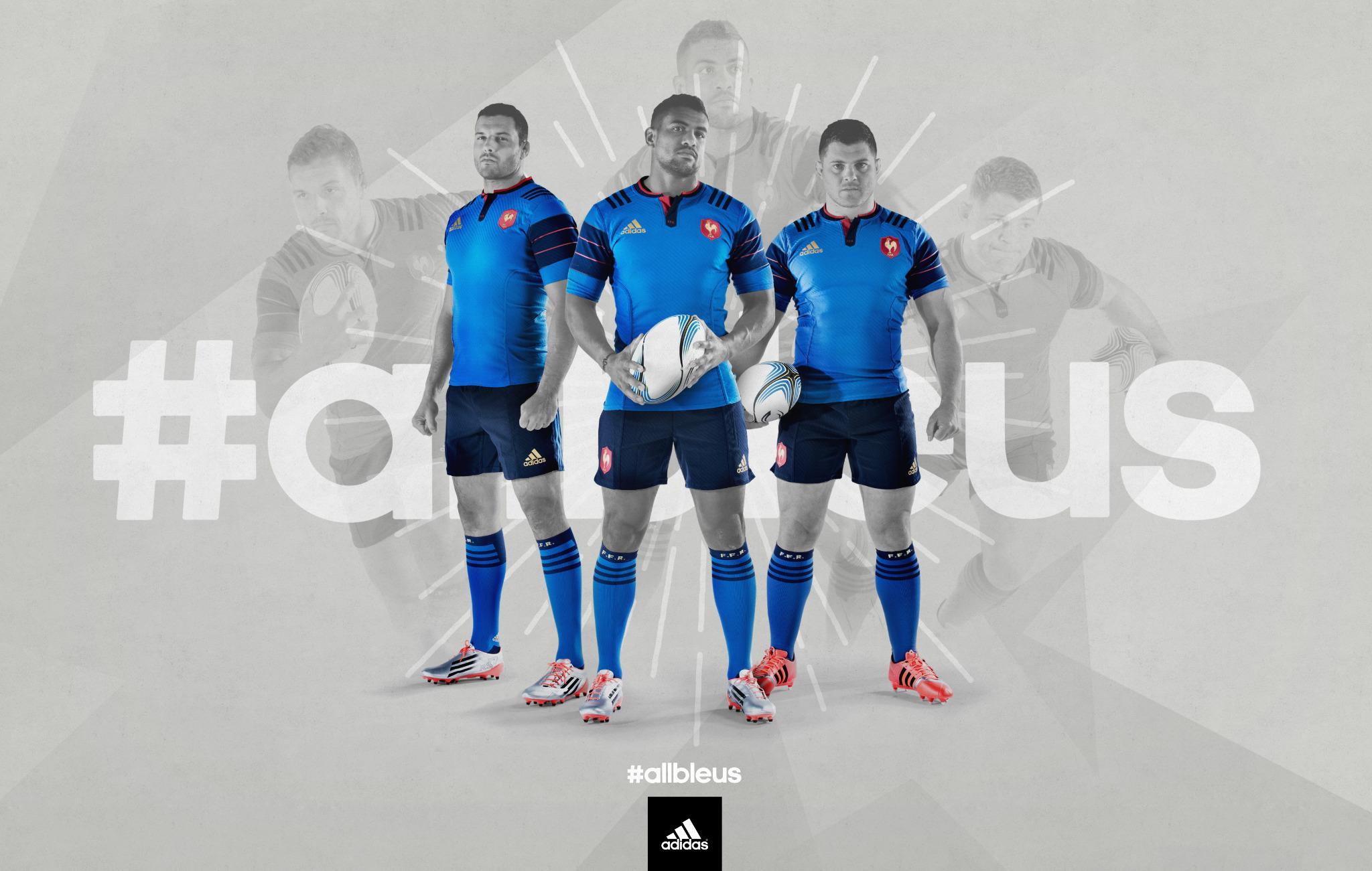 Le nouveau maillot du XV de France par Adidas.