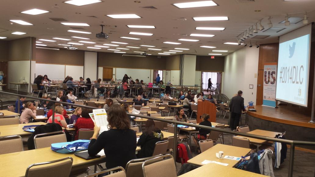 Crowd is gathering for the 2014 Dual Language Conference at @ESCRegion20 #2014DLC http://t.co/6sME9KapUk