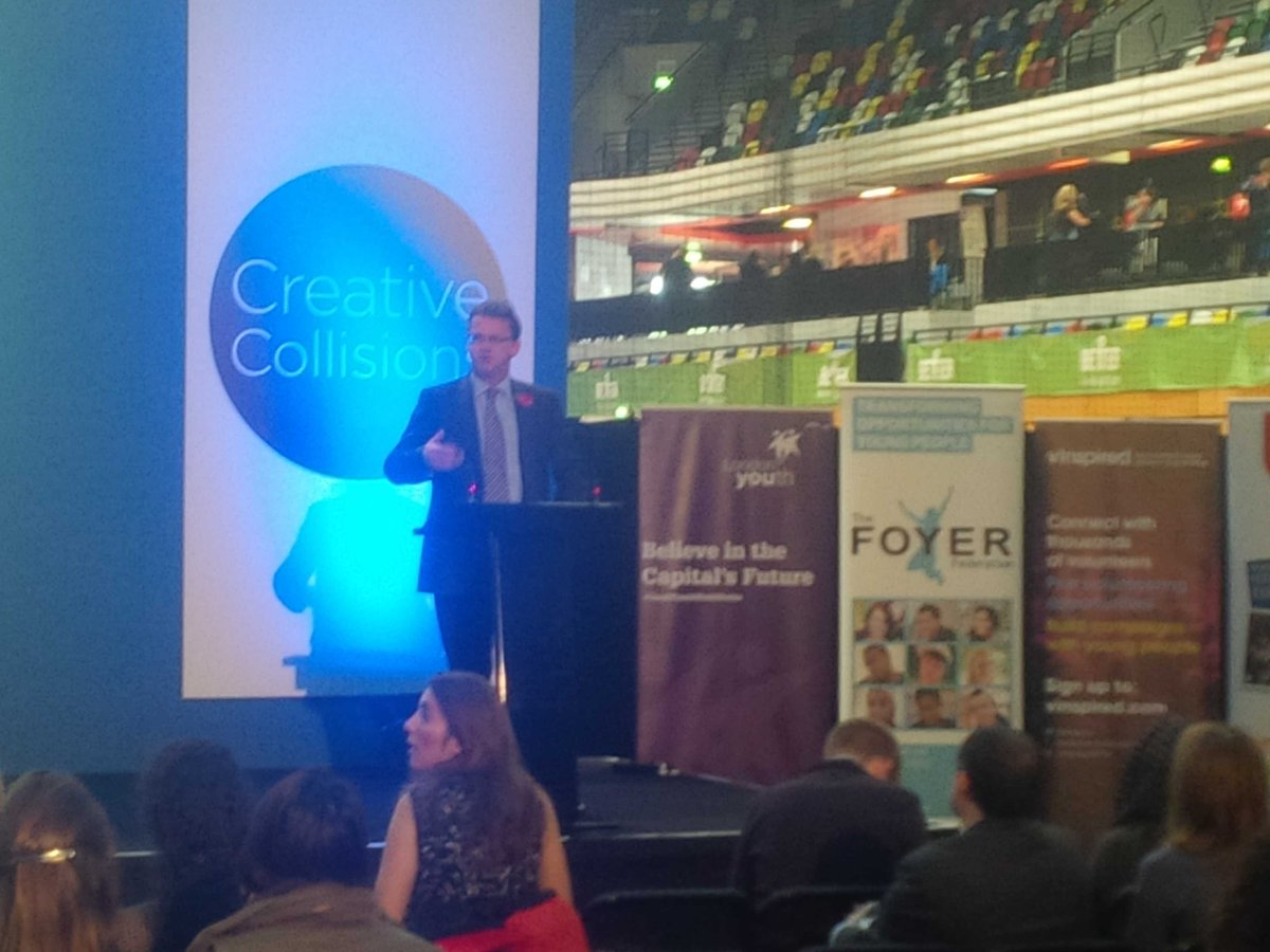 A big whoop for @RobWilson_RDG @MinForCivSoc who addresses #CreativeCollisions @unitingforyouth #listen2us http://t.co/CuytDId68I