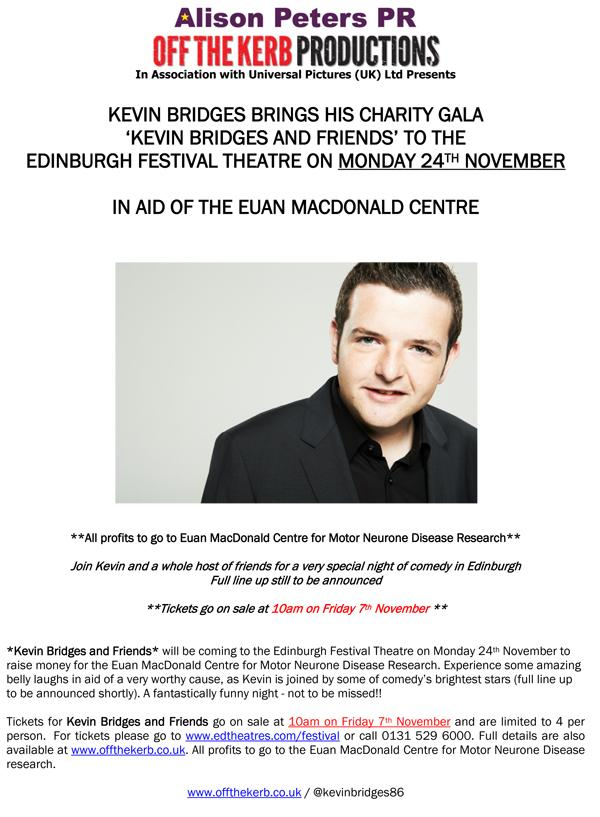 """Join us for a night of comedy with @kevinbridges86 & Friends - Mon 24th Nov in Edinburgh! http://t.co/zYuCc8pymg"" I'm doing this"