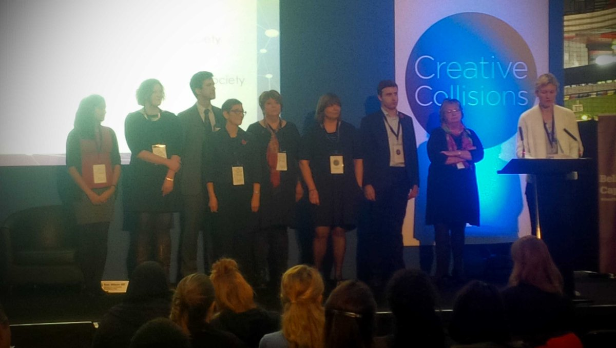 Collaboration at its best - the Chief Executives of @unitingforyouth #creativecollisons #listen2us http://t.co/yDWwaMgdGI
