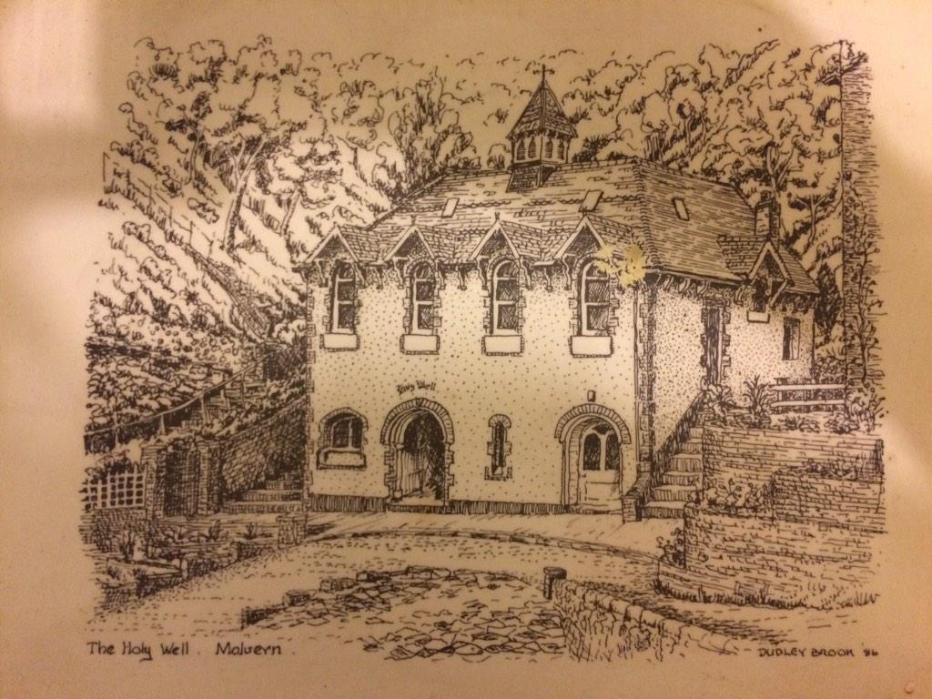 Lovely picture of the Holywell drawn by Dudley Brooks #malvernwater http://t.co/vWVyVs4RuJ