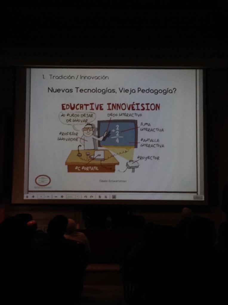 Introducir nuevas tecnologías a la vieja pedagogía no es innovar...es domesticar la tecnología @gisisch #ceticshi http://t.co/PCwJZELCfX