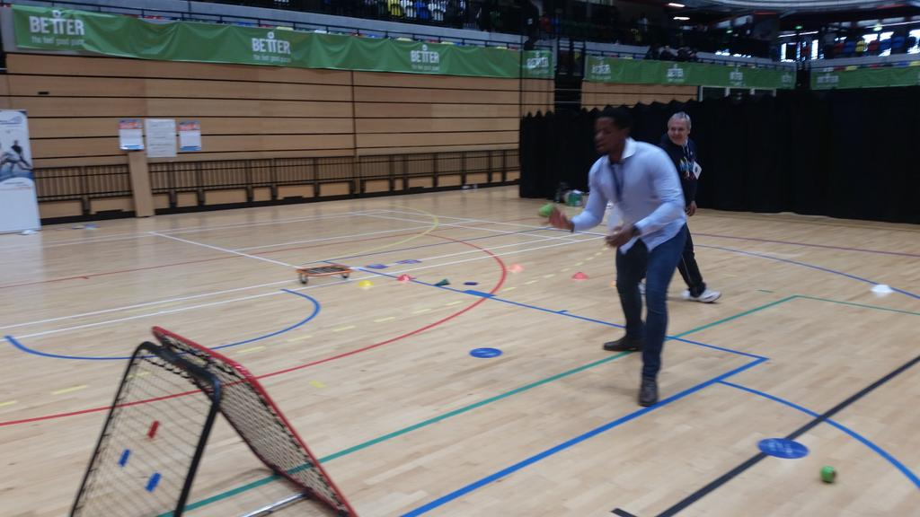 every conference should have athletic break! Ready to go again #CreativeCollisions http://t.co/mKSXgsRbmA