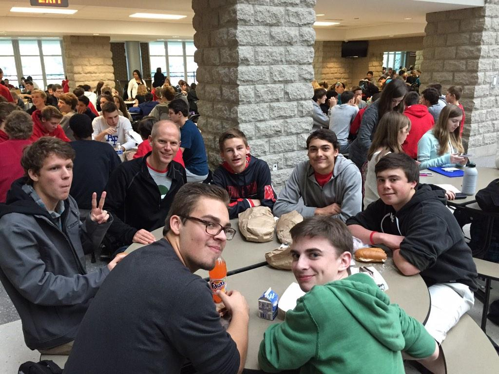 Lunch time. Thankful for a place to sit. #shadowastudentforaday http://t.co/EzVPHKslDy