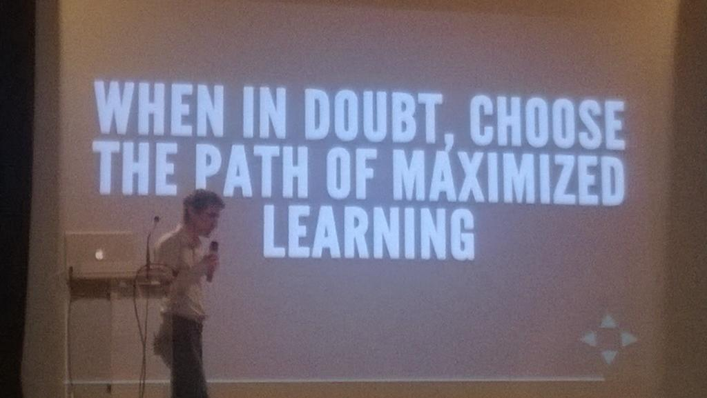 RT @sroccaserra: Learning is often the best choice - #management #decisions #LKFR14 @Ismael_Hery http://t.co/TviPBxijRk