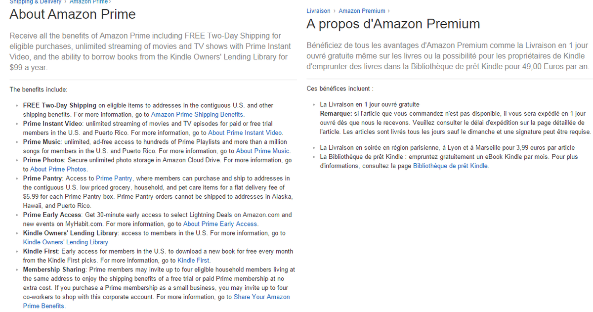 Amazon Prime Us Vs France Even If You Don T Speak French
