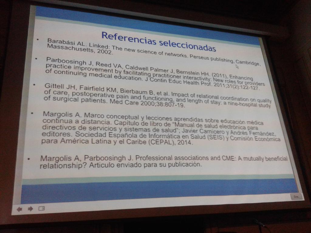 #CETICSHI recomendaciones de @AlvaroMargolis para seguir pensando sobre redes y formación profesional continua http://t.co/jMdMZjHTTQ