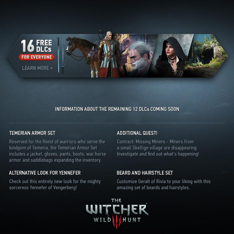 Free DLC planned for The Witcher 3: Wild Hunt | PC News at