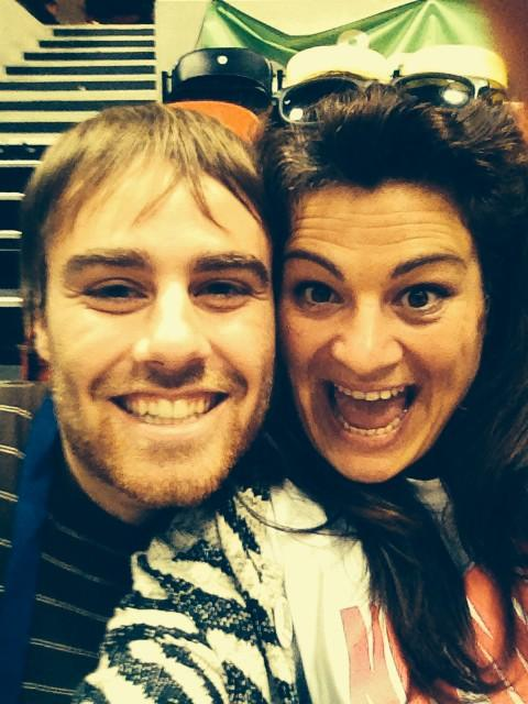Our director @susanaginer and @DominicKing doing a selfie @unitingforyouth #CreativeCollisions http://t.co/o2hOD369qQ