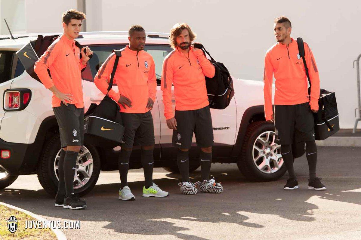 Las estrellas de la Juventus entrenan con pantuflas para Goodyear