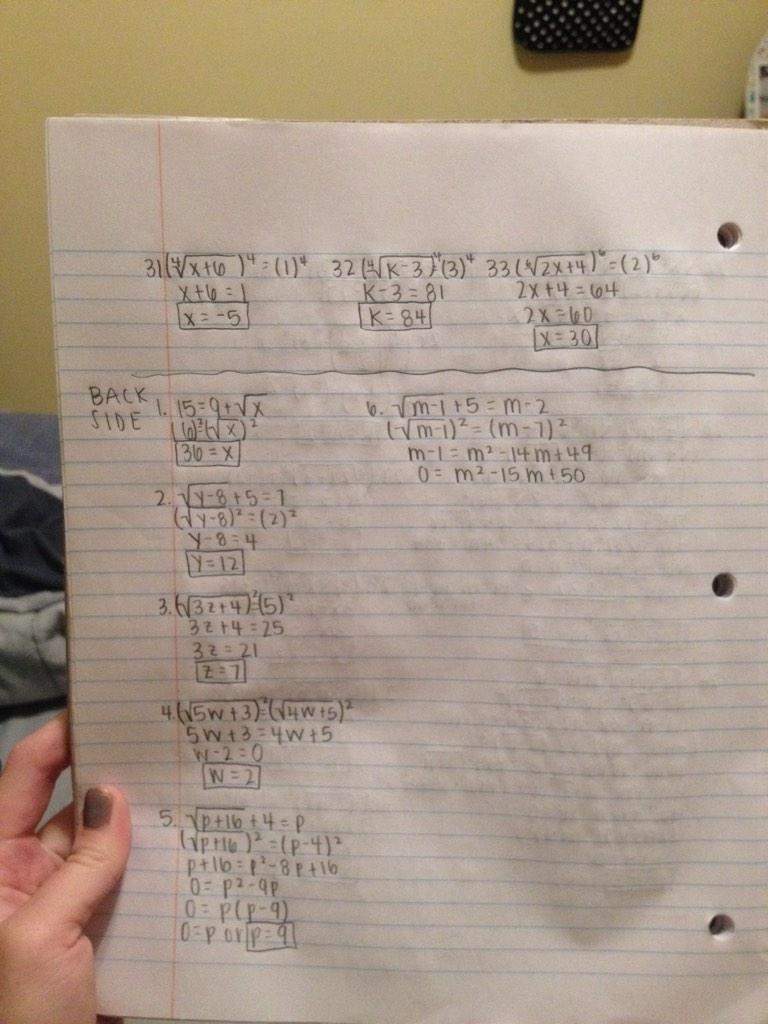 worksheet The Quadratic Formula Worksheet Answers funstats on twitter radical equations really long worksheet http httpt cotr3xradq8p