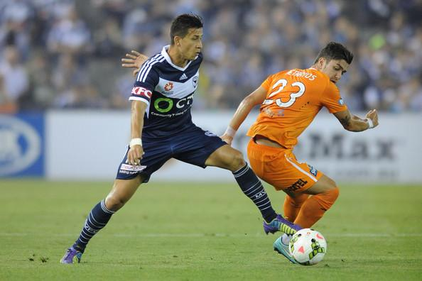 Georgievski during the Brisbane match