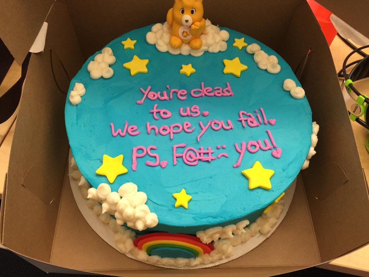 It's my coworker's last day today. http://t.co/jNKcnWcmgK