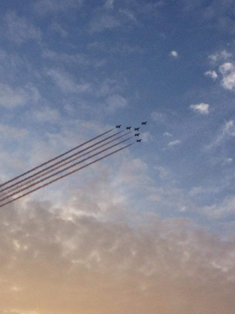 I'm a very long way off this standard! Ha RT @RAFRed1 good effort from Team on our first 6 aircraft formation today. http://t.co/qg7Abj8lfe