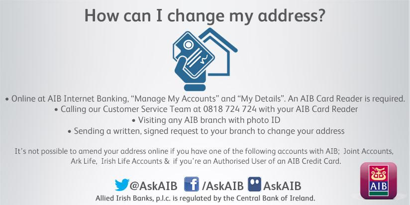 Aib customer support on twitter recently moved house need to aib customer support on twitter recently moved house need to change your address heres how any other questions please get in touch reheart Image collections