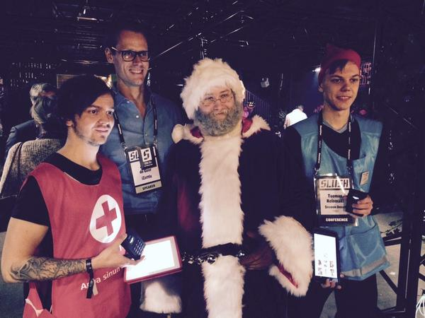 Thumbnail for Startup Santa and NGOs raised money at #Slush14 w/ iZettle