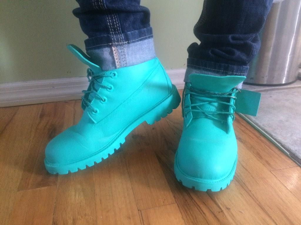 "Jada on Twitter: ""Back at it, custom Timbs made by me ..."
