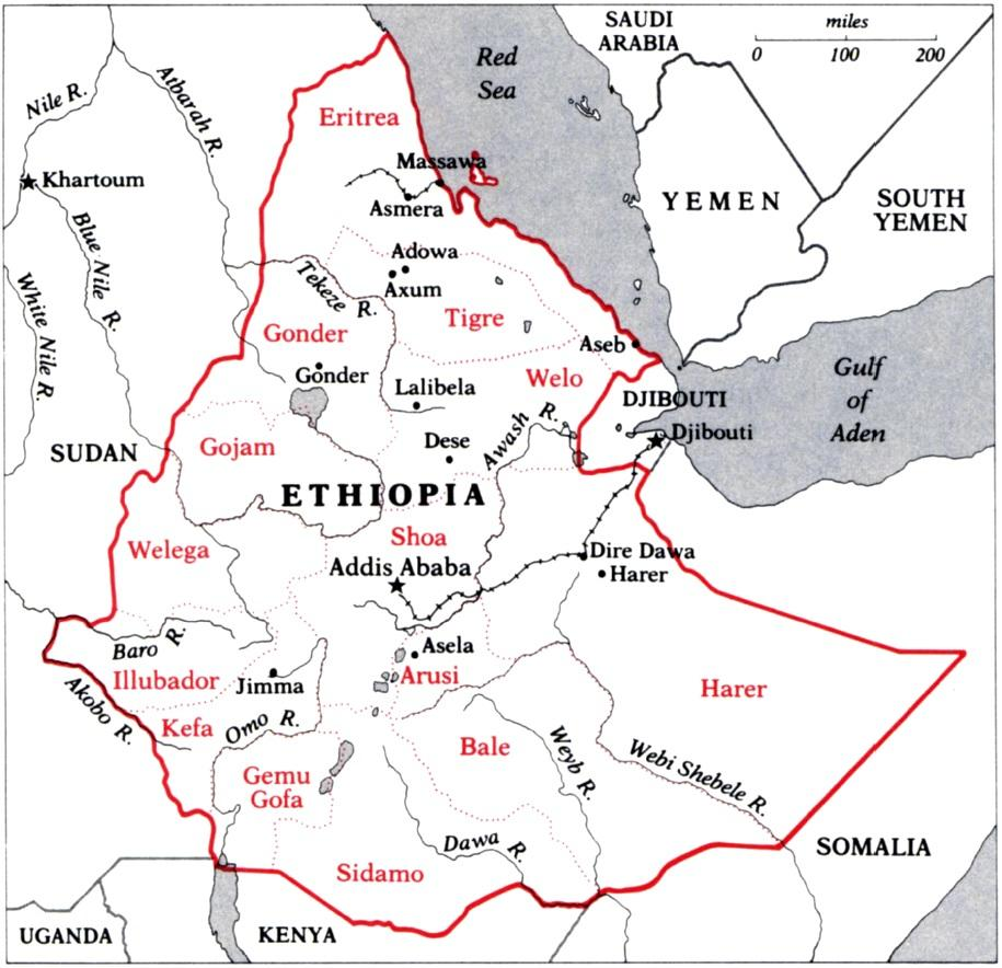 ethiopia provinces map image collections