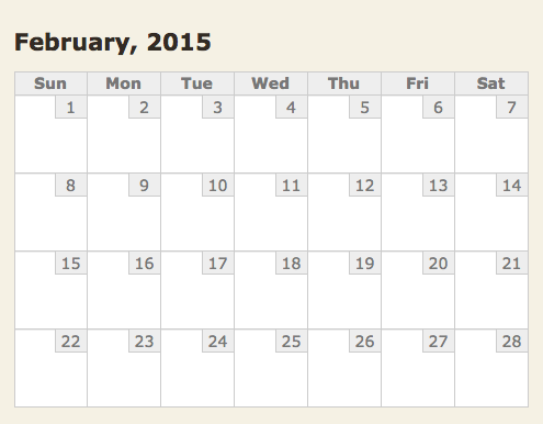 I really like February 2015.  So nice and orderly. http://t.co/lujHwQThrr