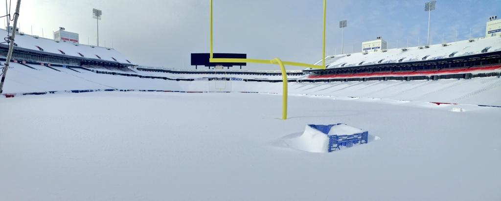 And this is why the game won't be played in Buffalo (Pic: @buffalobills) Ralph Wilson Stadium. http://t.co/d74h5wr3Jn @SkySportsNFL #NFL