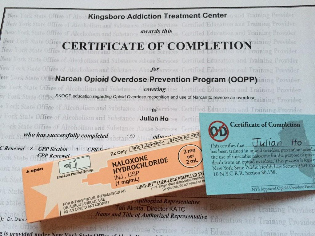 Julian Ho On Twitter Attended Narcan Naloxone Training At