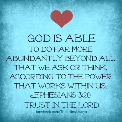 """Tim Burt on Twitter: """"Ephesians 3:20 (NLT) """"Now all glory to God, who is  able, through his mighty power at work within us... http://t.co/aMxKVrCEs9"""""""