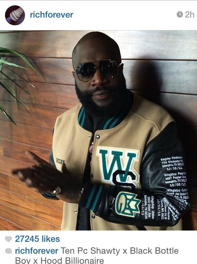 Few hrs from his new album! @WingstopMemphis rickyrozay still Rep'n Wingstop http://t.co/Mj65NmLi7q