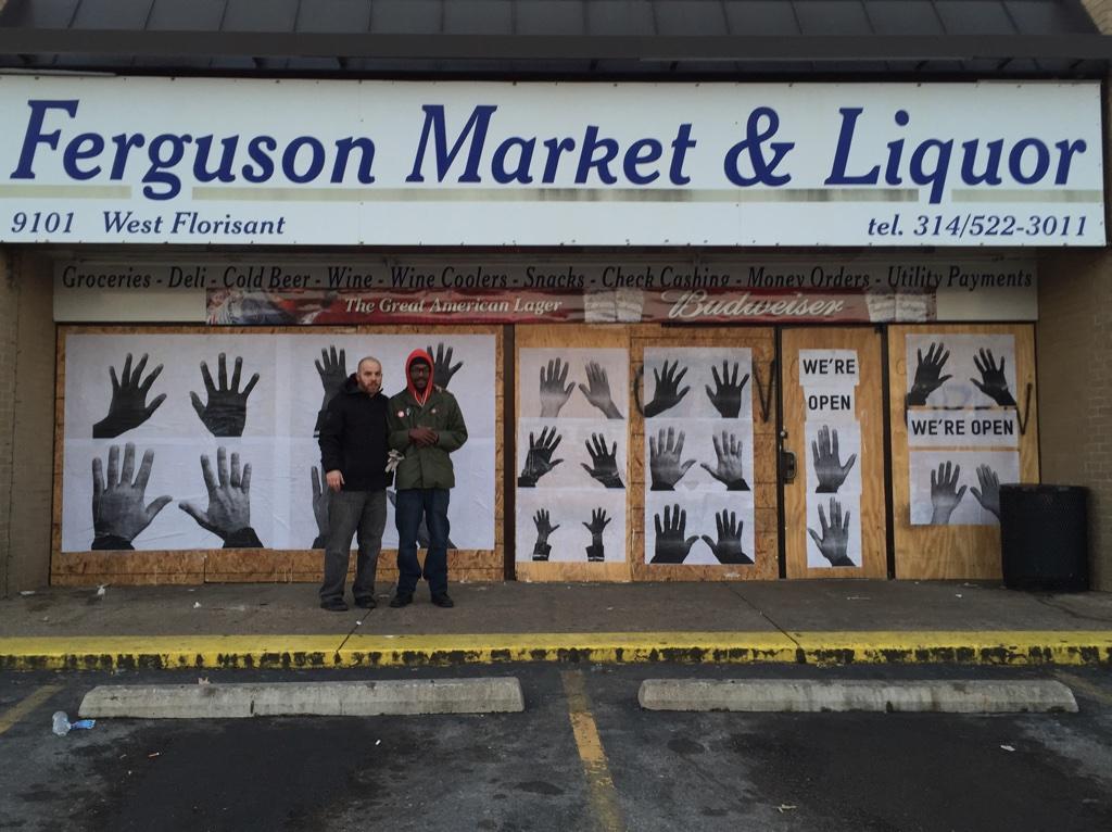 RT @MichaelSkolnik: Extraordinarily proud of our project today in Ferguson. Damon Davis is the artist. #AllHandsOnDeck is the movement. htt…