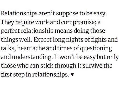 Relationships aren't suppose to be easy