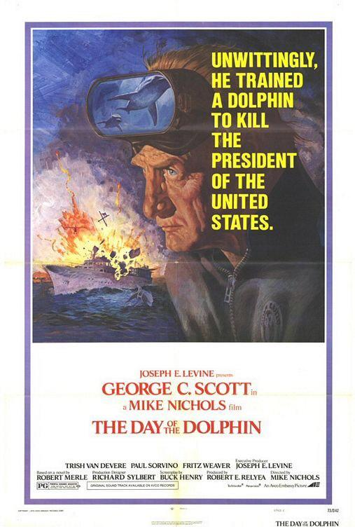 Mike Nichols also directed THE DAY OF THE DOLPHIN (1973), which had possibly the greatest poster tag line of all time http://t.co/NInNLuJ44u