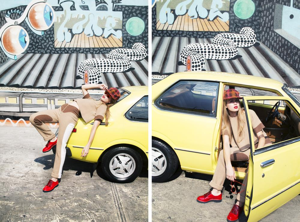 RT @MarcJacobsIntl: Riding hard with @nylonmag in Marc Jacobs FW14. Hop in! http://t.co/s7oL7rDGXZ http://t.co/QkvKA2PWaD
