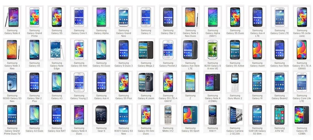En 2014, Samsung a lancé en moyenne un smartphones par semaine. Total de 56 pour cette année http://t.co/pfvdWJKTtb http://t.co/970J20wsFq