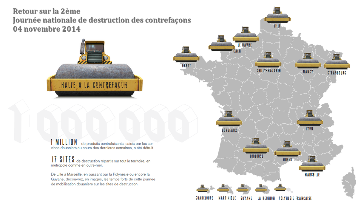 Thumbnail for Journée nationale de destruction de contrefaçons