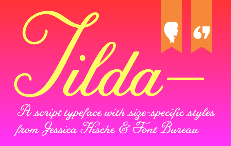 New fonts! We teamed up with @JessicaHische to release Tilda, the script from Moonrise Kingdom http://t.co/c1NANhmtv3 http://t.co/WmEo8ajXb6