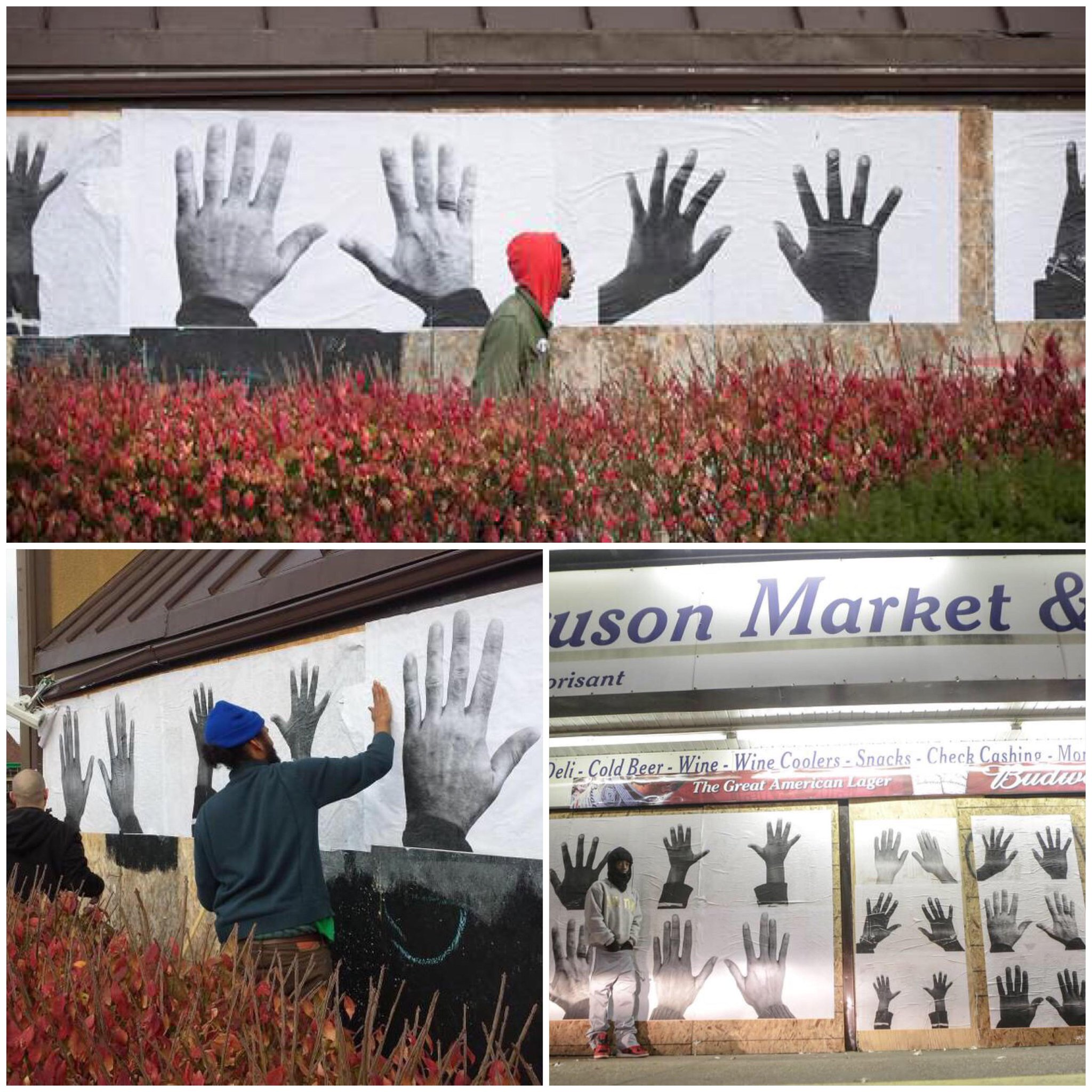 RT @sonsandbros: POWERFUL: Artist blew up photos of the protesters' hands and posted them around #Ferguson #AllHandsOnDeck http://t.co/wY4Q…