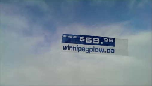 Winnipeg Manitoba Canada aerial advertising campain flying banner