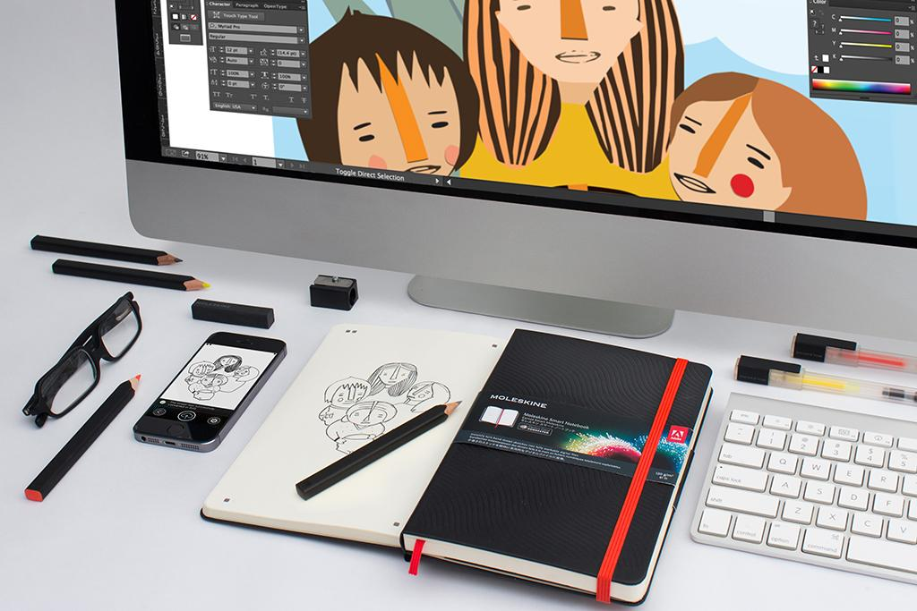 Move from paper to vector with the @CreativeCloud connected @Moleskine Smart Notebook and App: http://t.co/efNOpY1WSM http://t.co/bVtCPlN9Pq