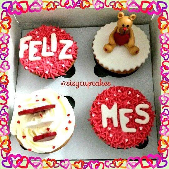 Sisy Cupcakes On Twitter Desea Un Feliz Mes A Tu Amor