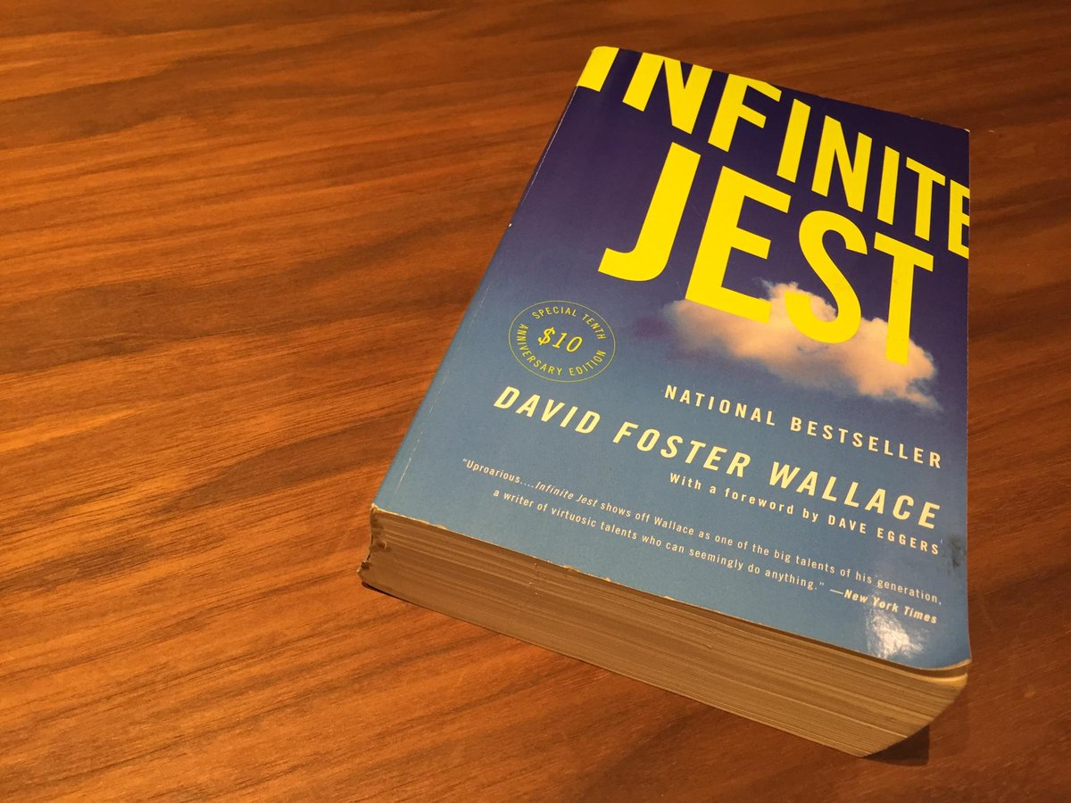 Infinite Jest on a table